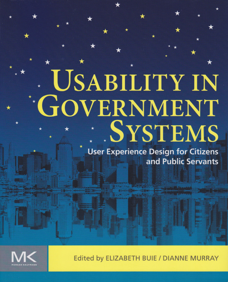 "Book cover for ""Usability in Government Systems: User Experience Design for Citizens and Public Servants"""